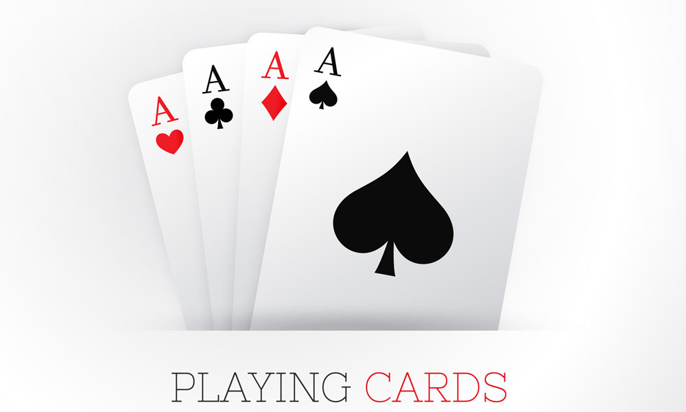 Cards in a deck of playing cards
